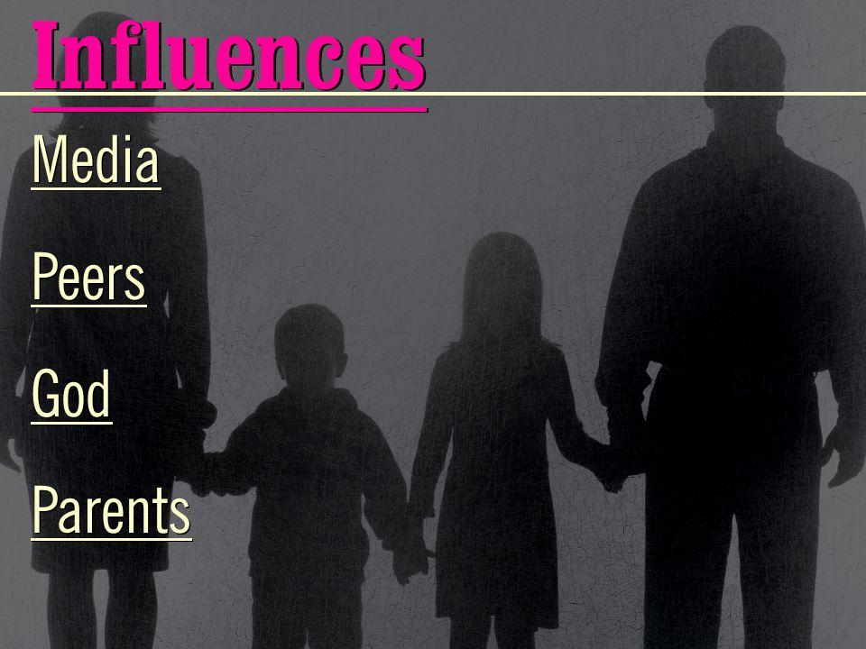 Influences Media Peers God Parents