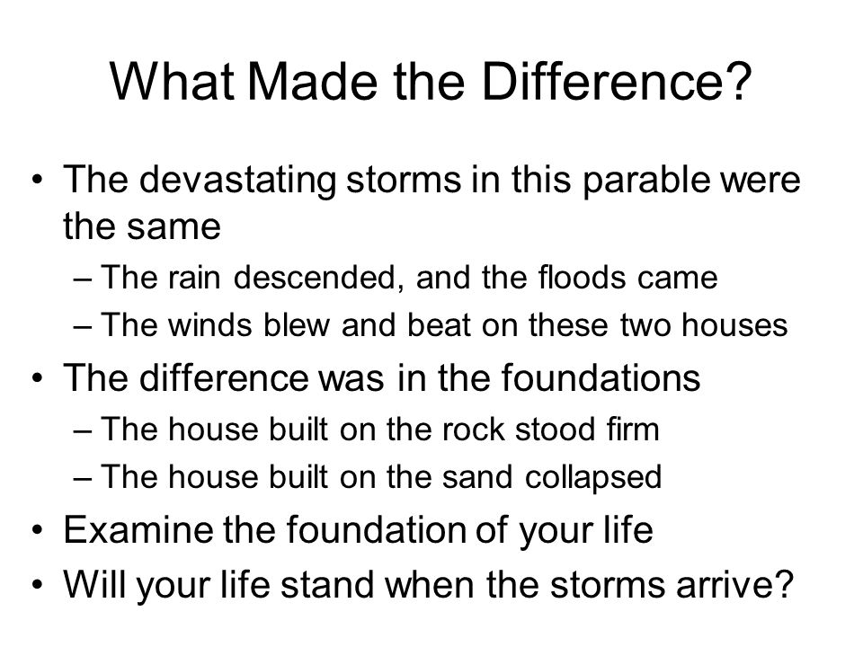 What Made the Difference