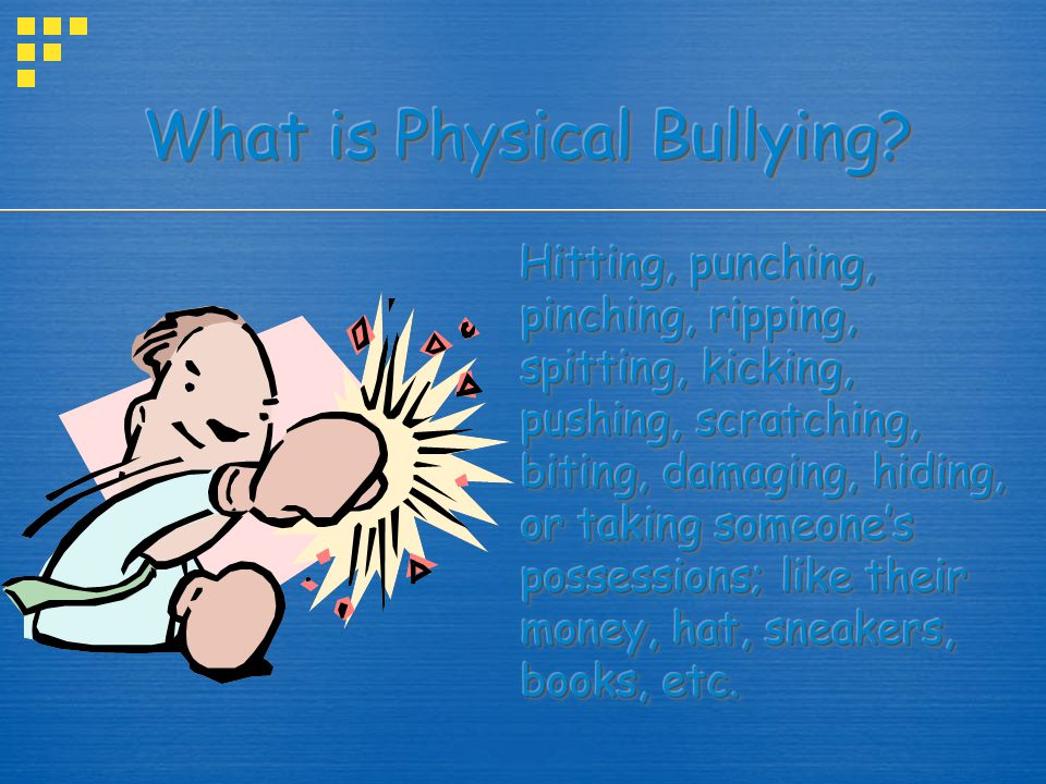What is Physical Bullying