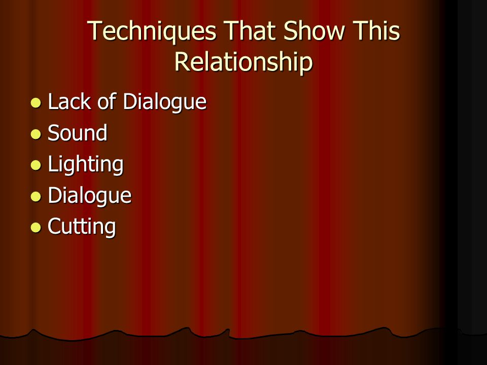 Techniques That Show This Relationship