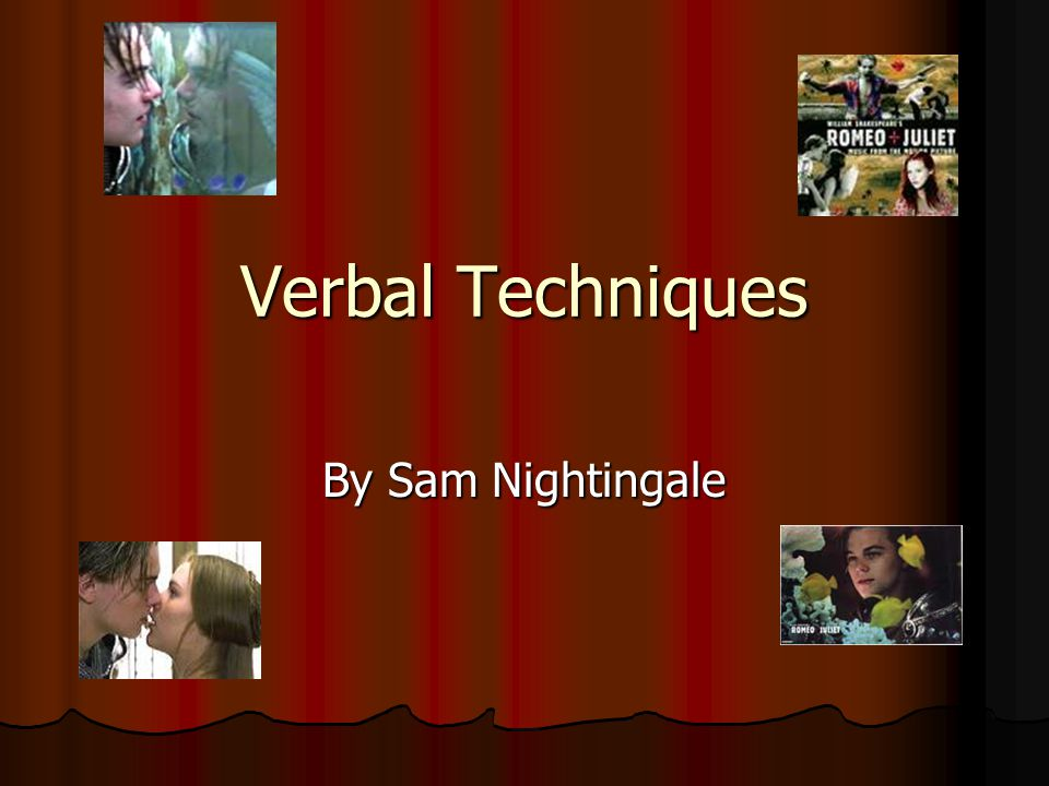 Verbal Techniques By Sam Nightingale