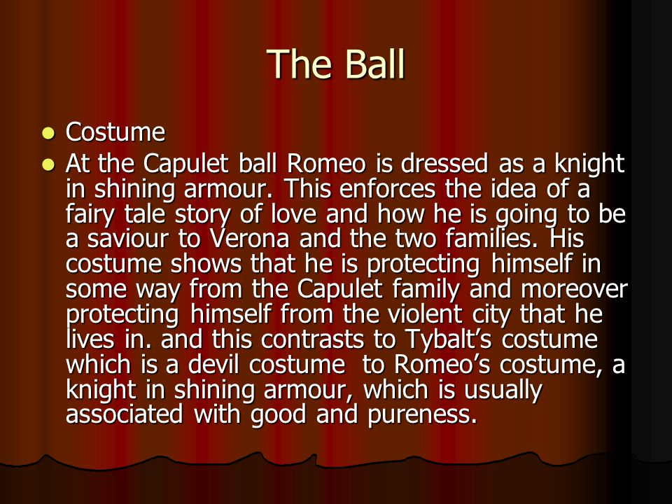 The Ball Costume.