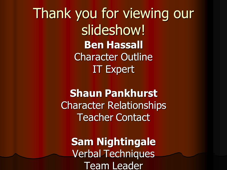 Thank you for viewing our slideshow!