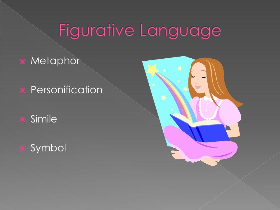 Figurative Language Metaphor Personification Simile Symbol