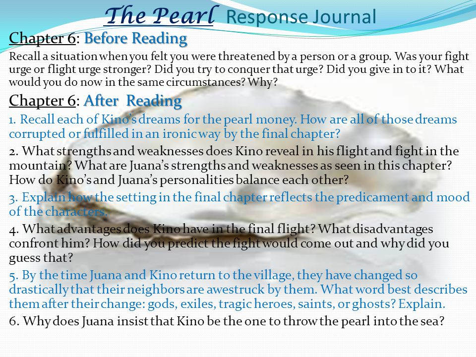 The Pearl Response Journal
