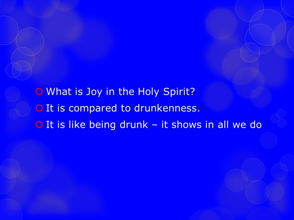 What is Joy in the Holy Spirit