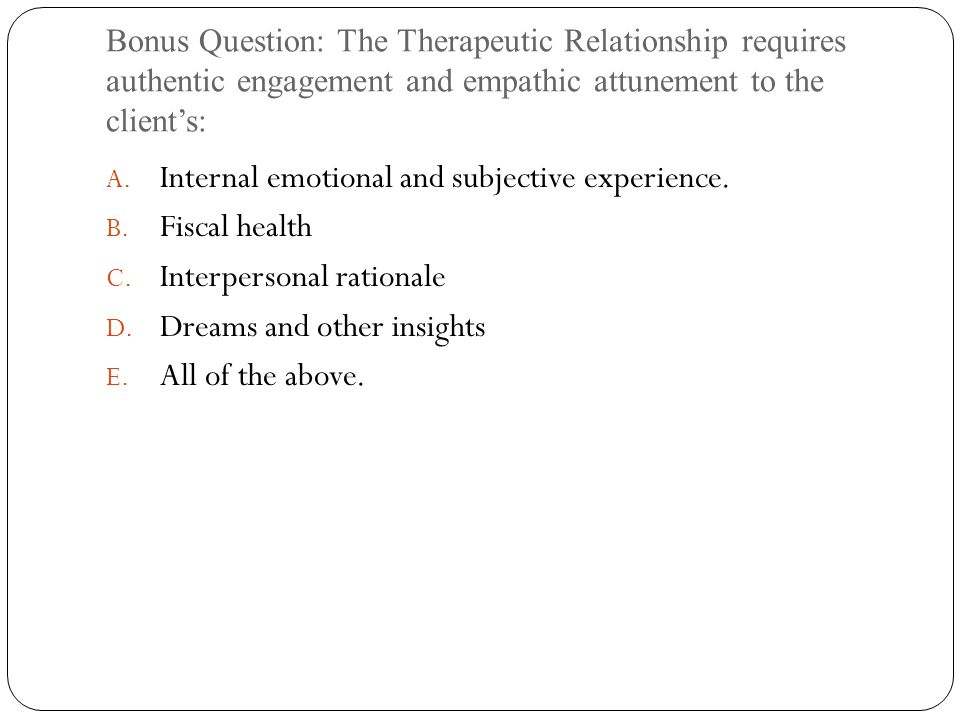 Internal emotional and subjective experience. Fiscal health