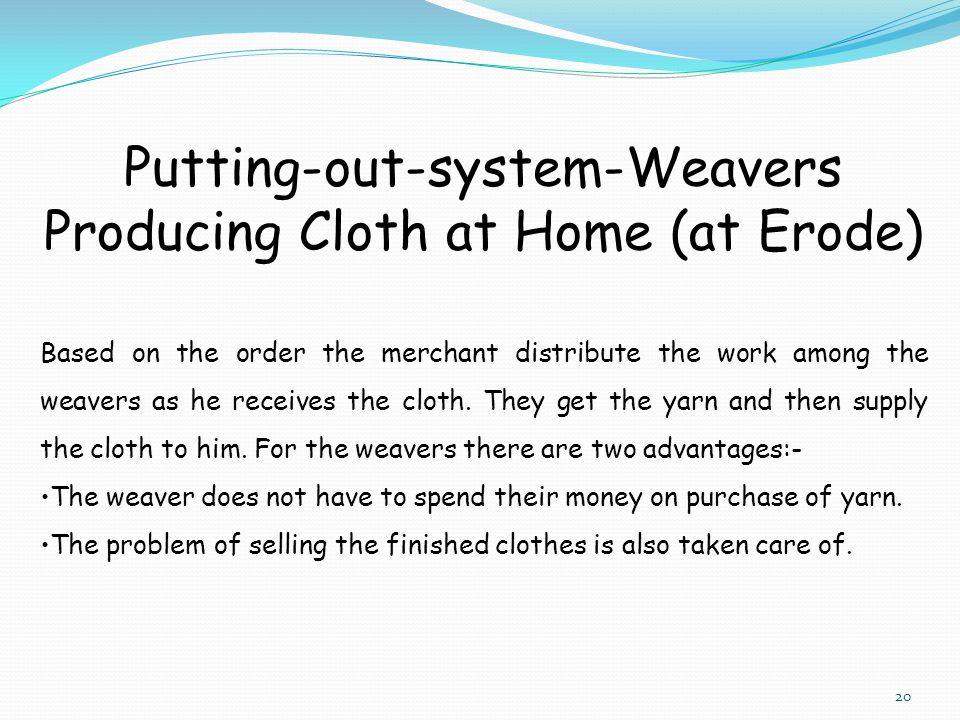 Putting-out-system-Weavers Producing Cloth at Home (at Erode)