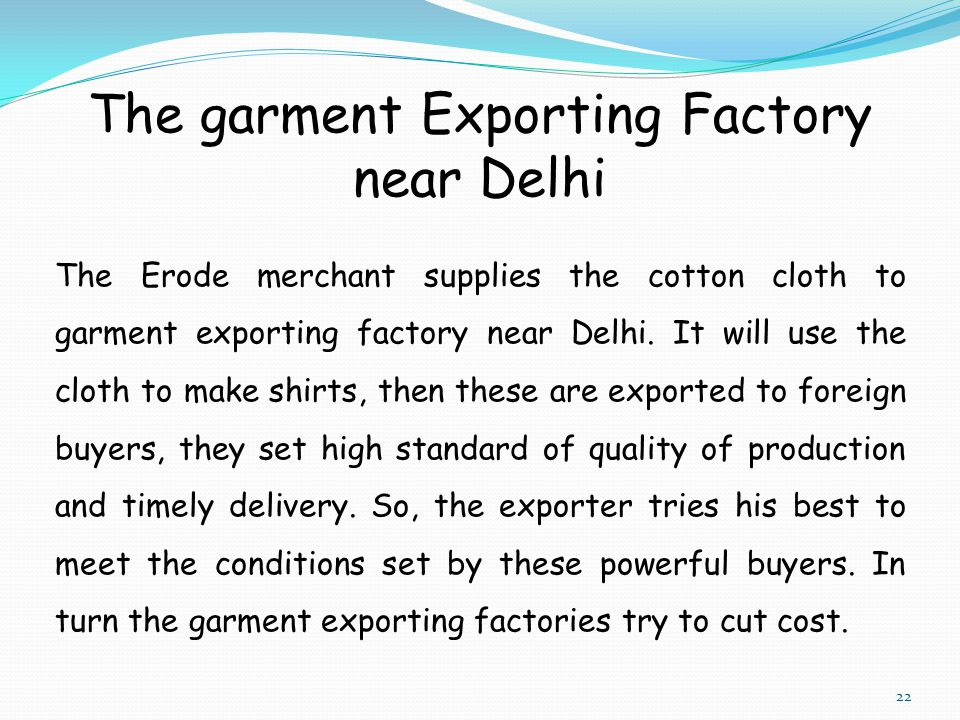 The garment Exporting Factory near Delhi
