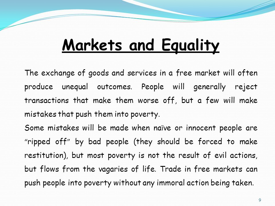 Markets and Equality