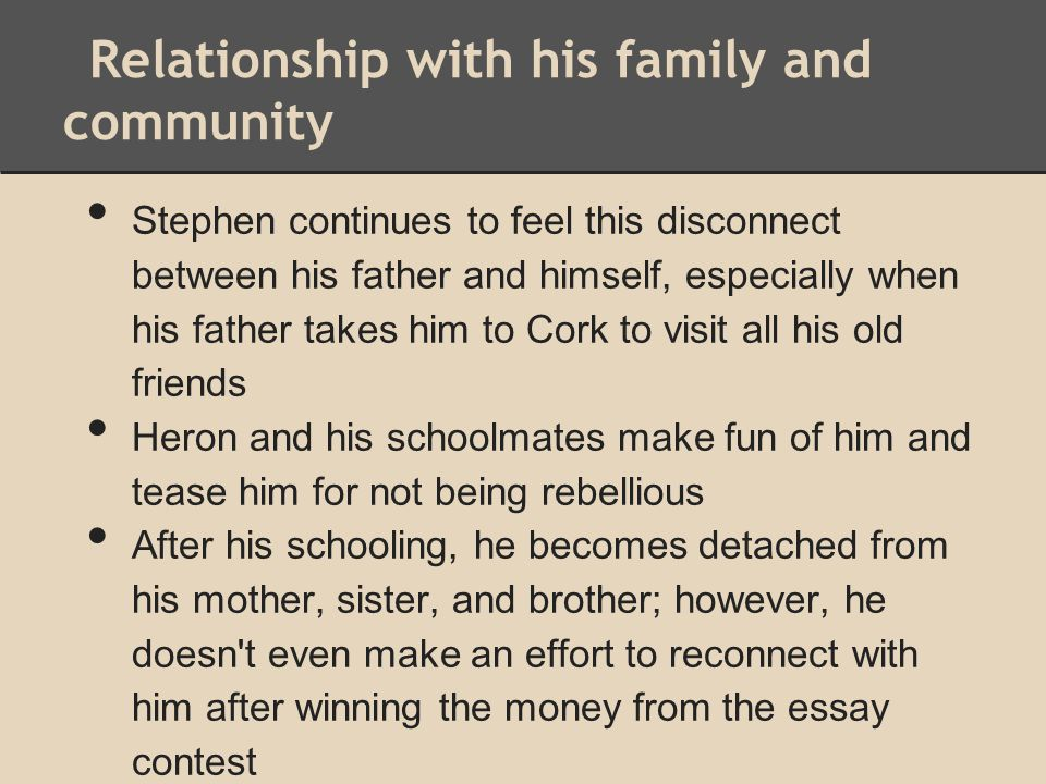 Relationship with his family and community