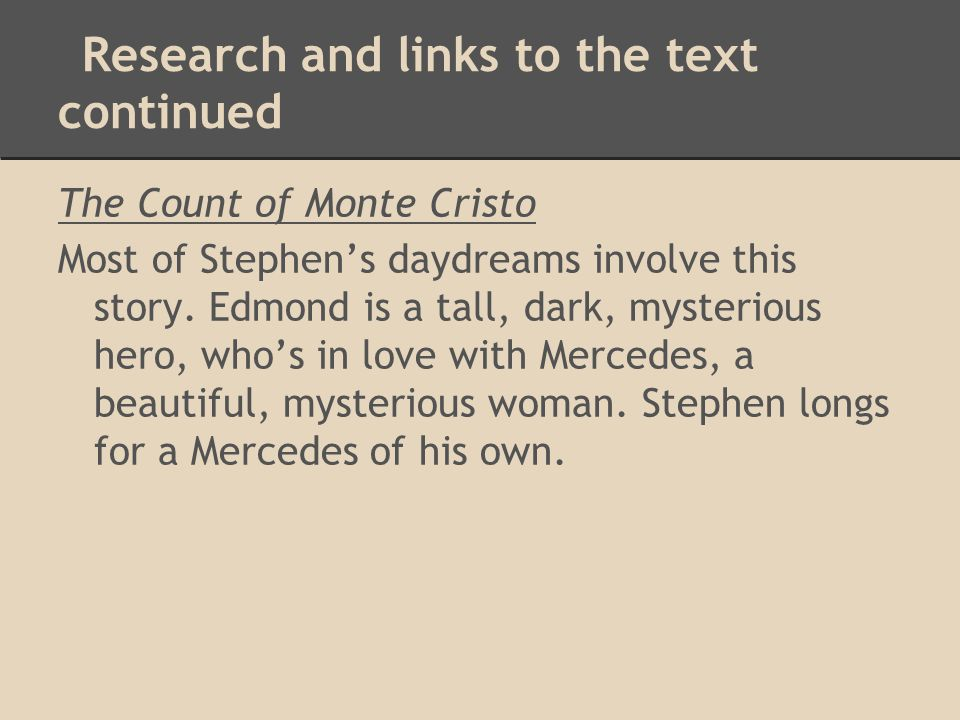 Research and links to the text continued