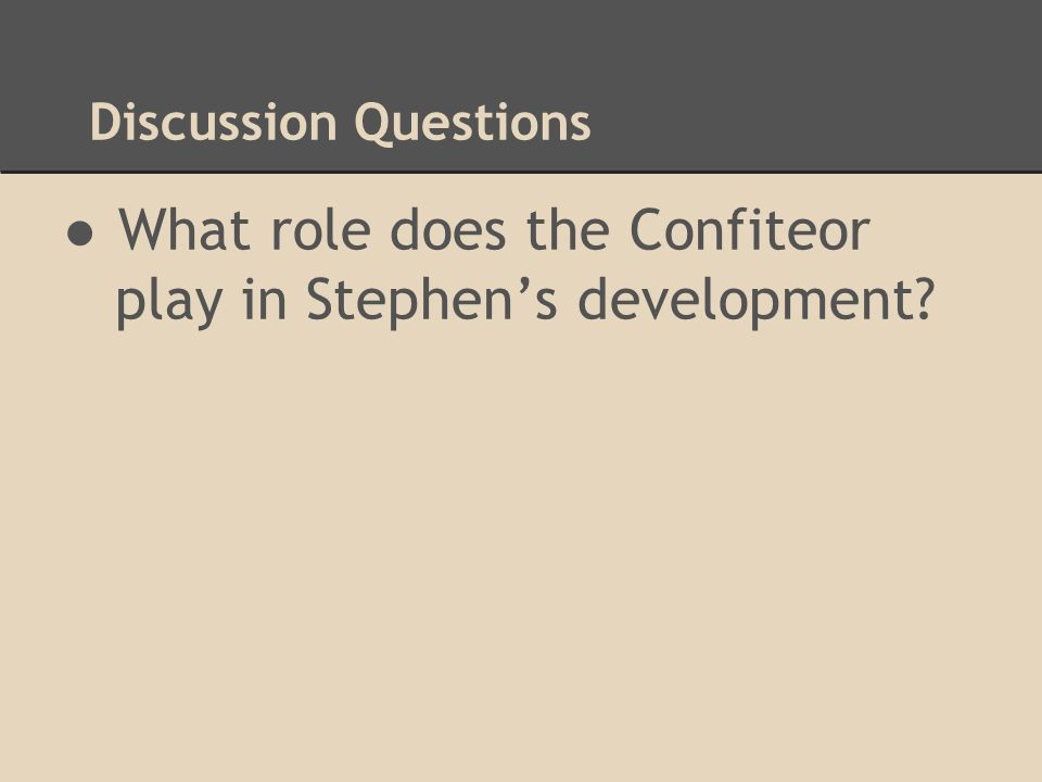 What role does the Confiteor play in Stephen's development