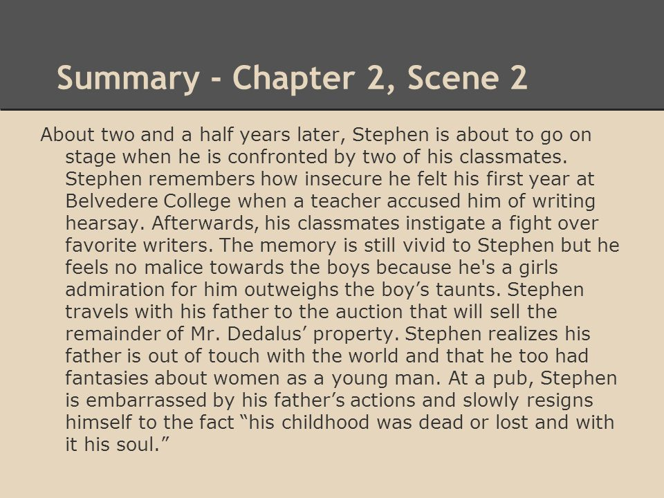 Summary - Chapter 2, Scene 2