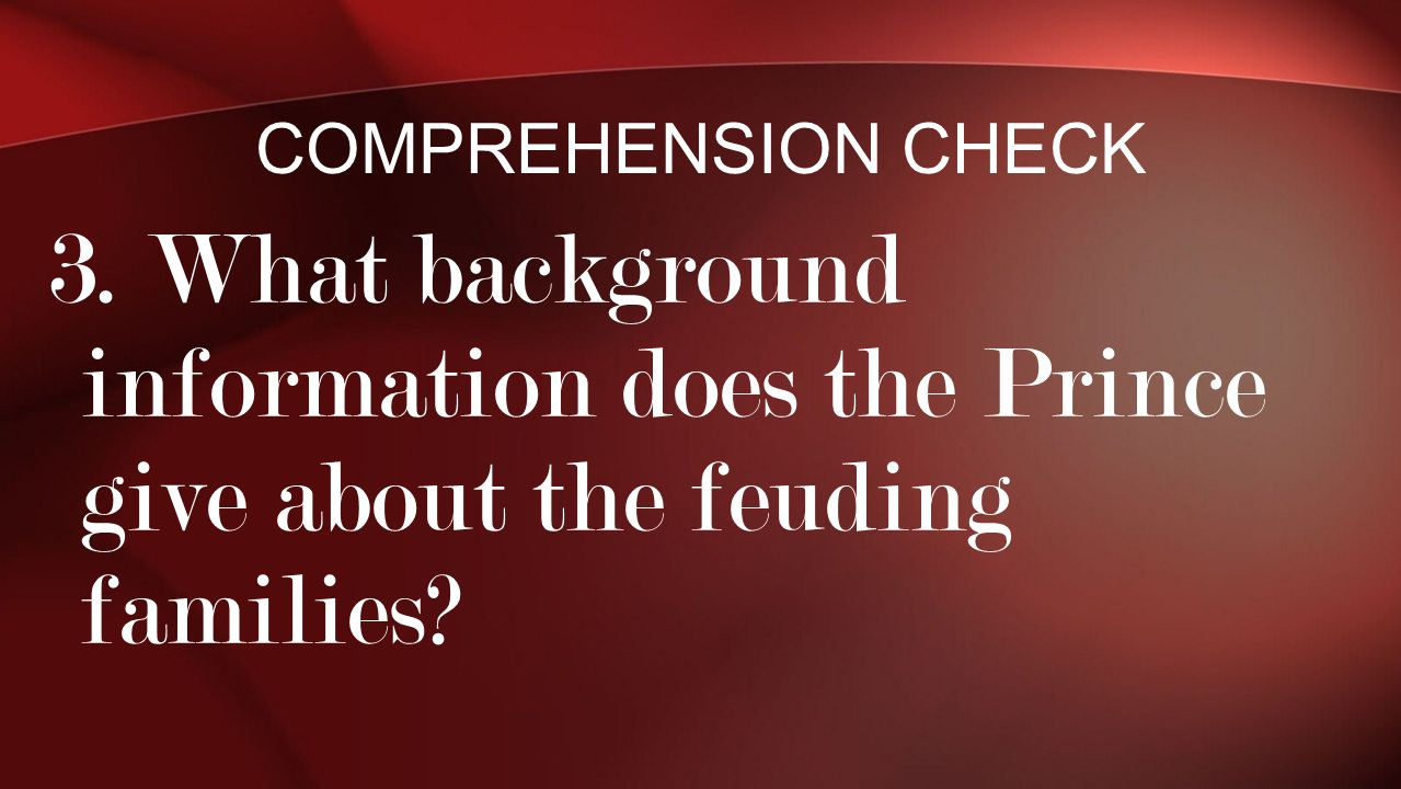 Comprehension Check 3.