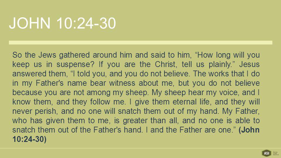 JOHN 10:24-30