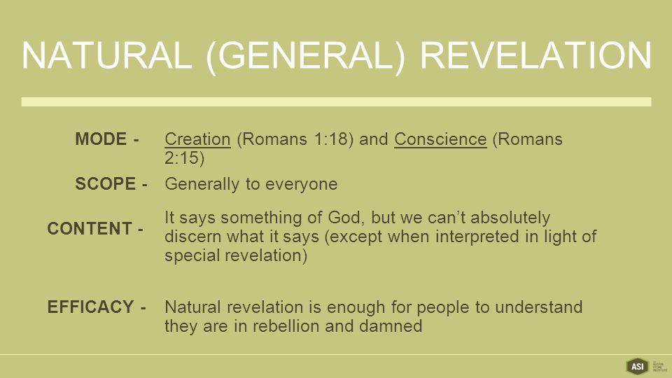 Natural (General) Revelation