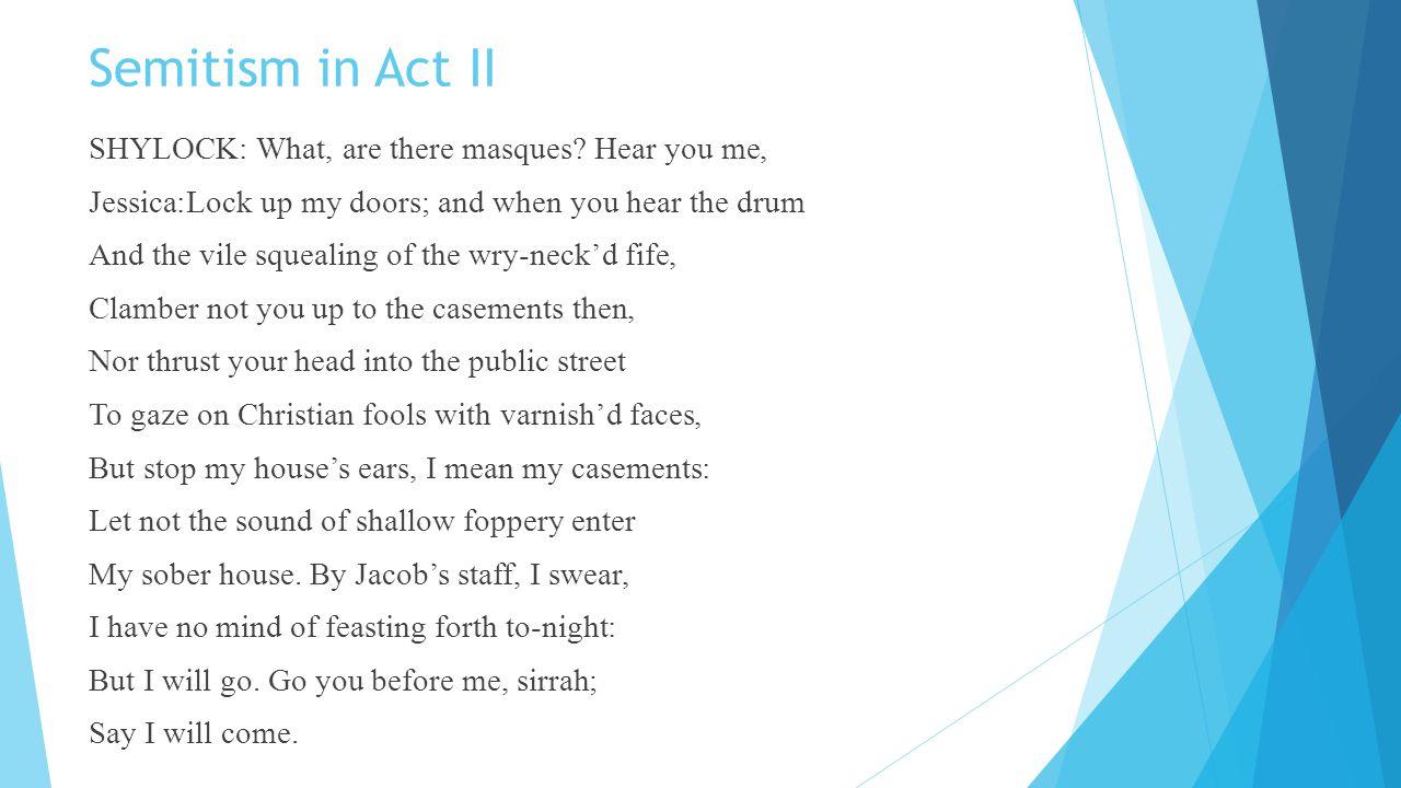 Semitism in Act II