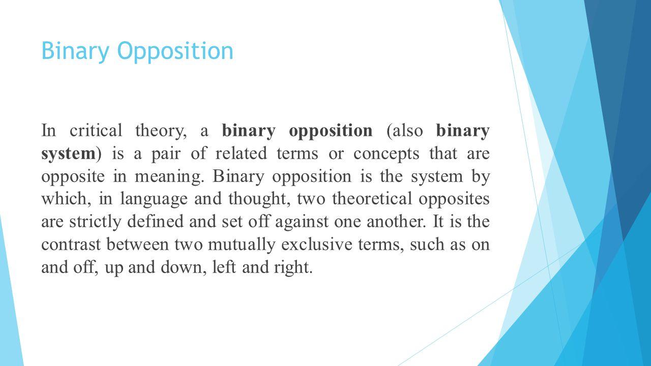 Binary Opposition