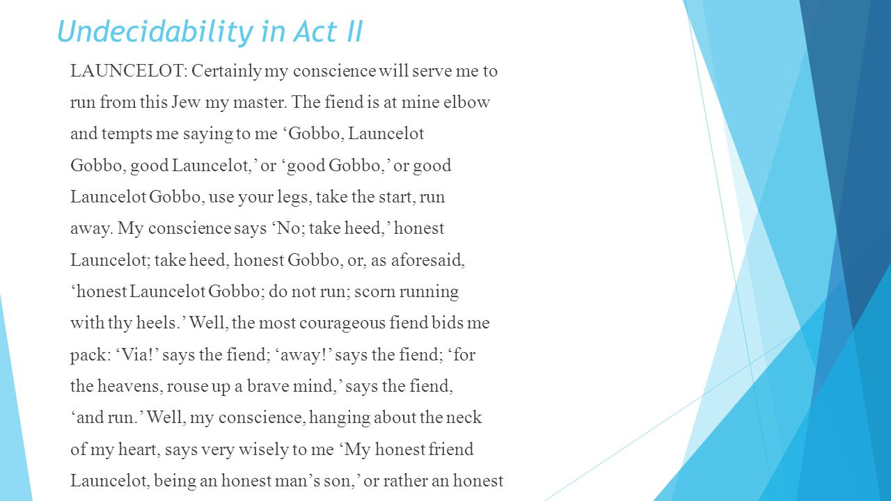 Undecidability in Act II