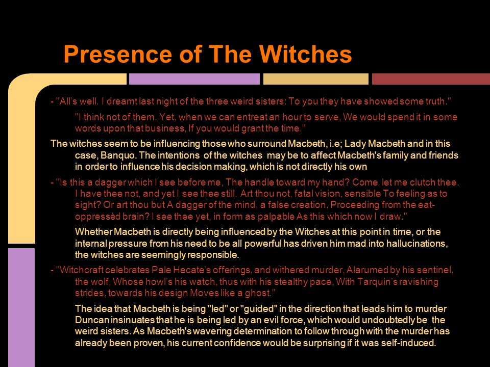 Presence of The Witches