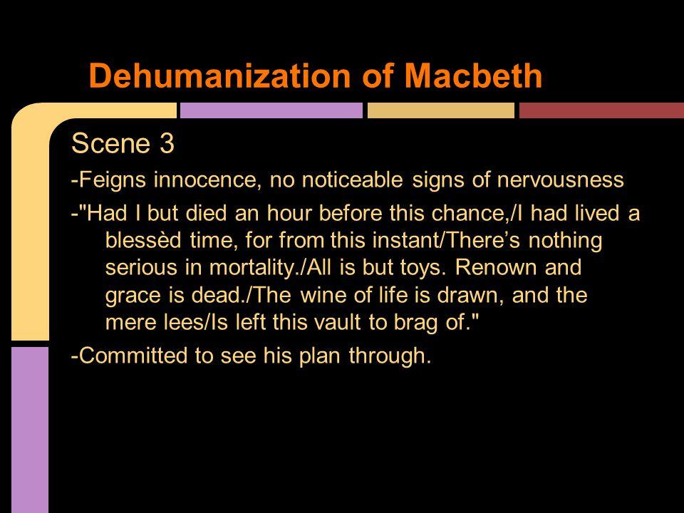 Dehumanization of Macbeth