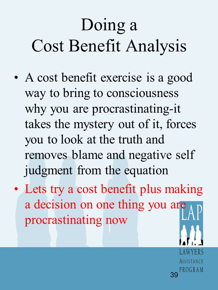 Doing a Cost Benefit Analysis