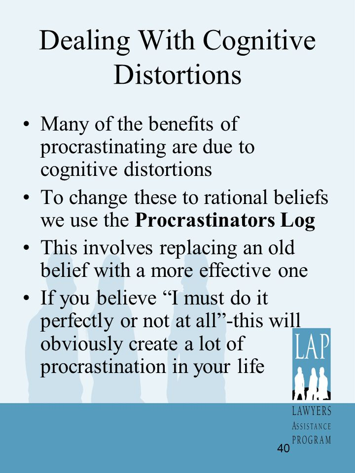 Dealing With Cognitive Distortions