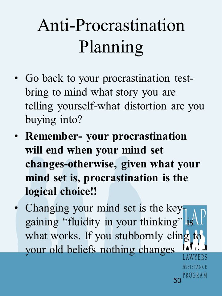 Anti-Procrastination Planning