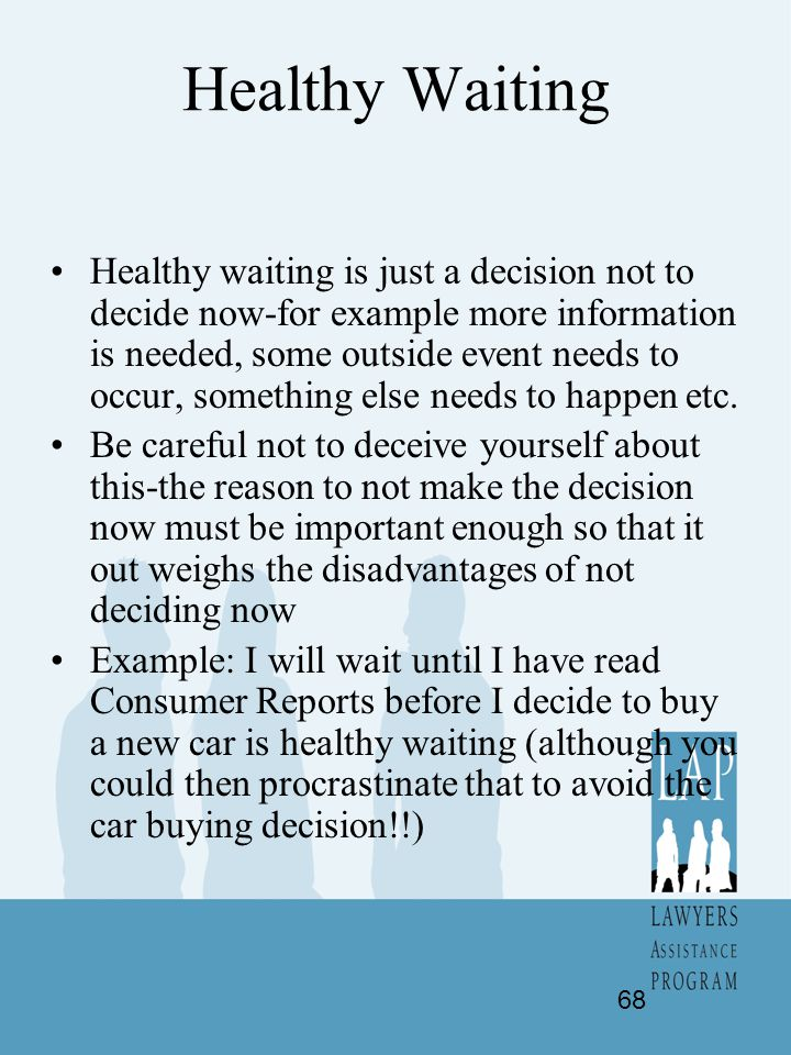 Healthy Waiting