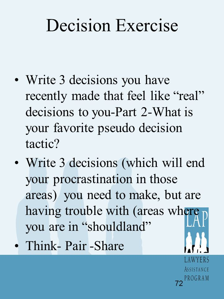Decision Exercise