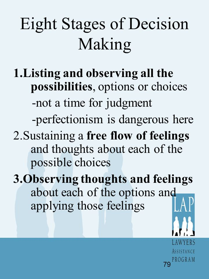 Eight Stages of Decision Making