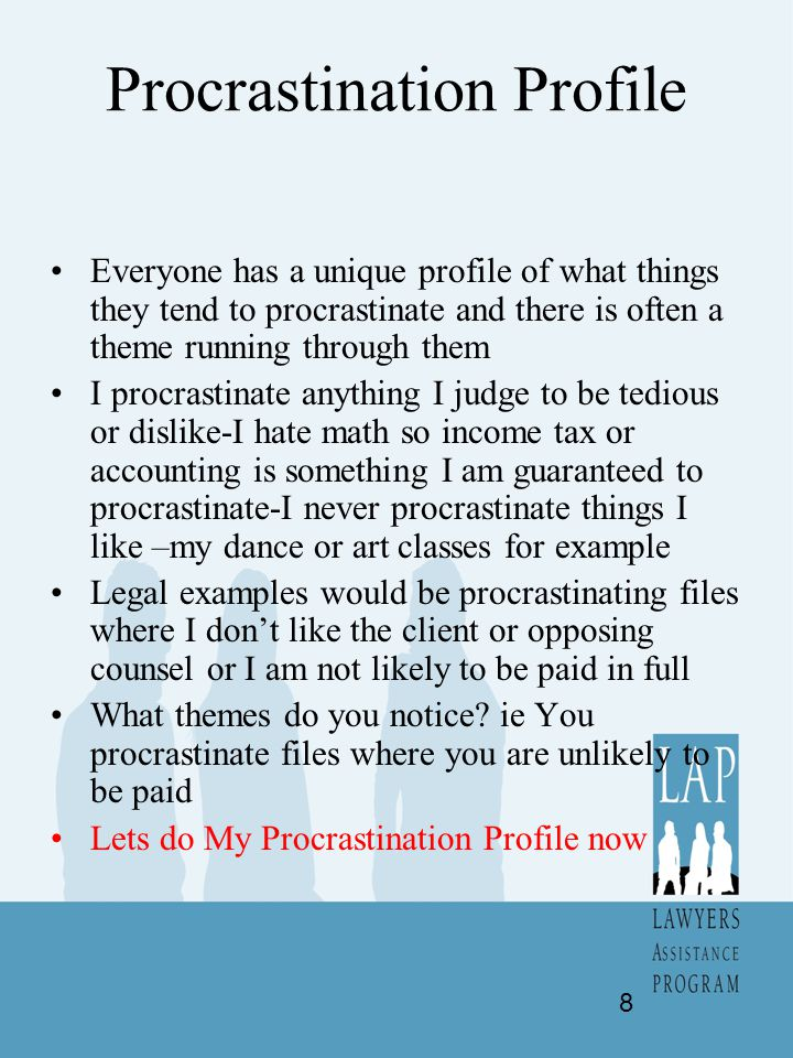 Procrastination Profile