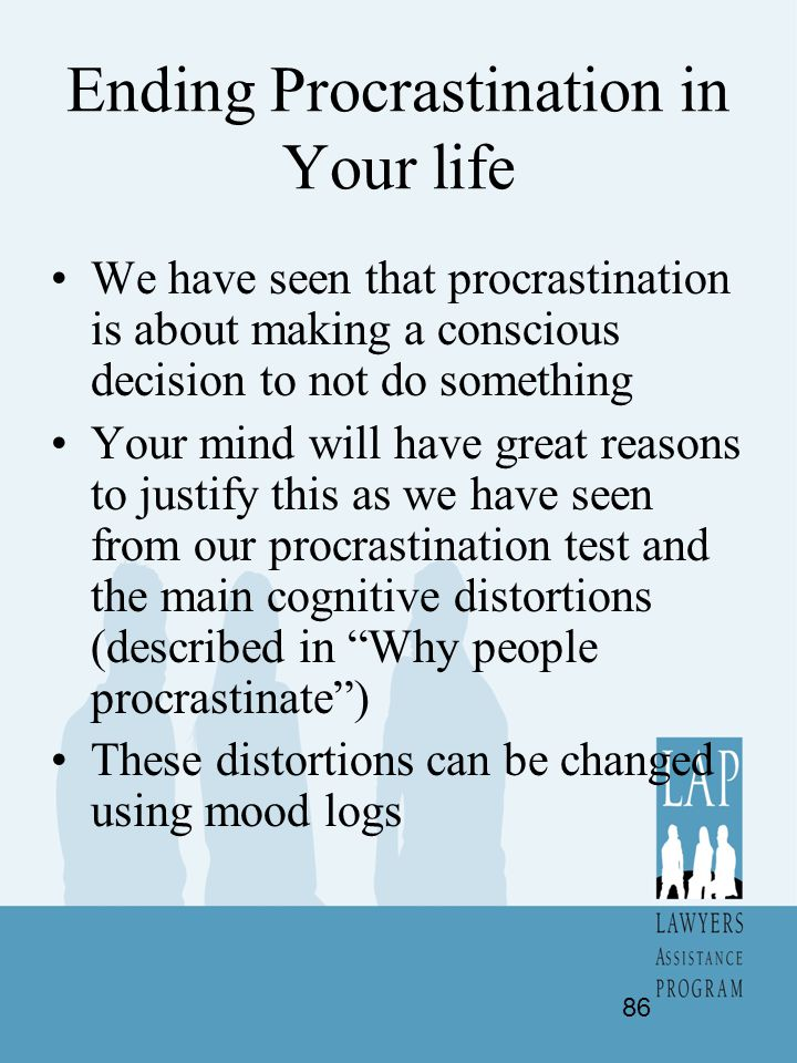 Ending Procrastination in Your life