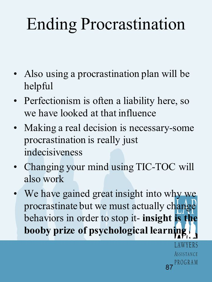 Ending Procrastination