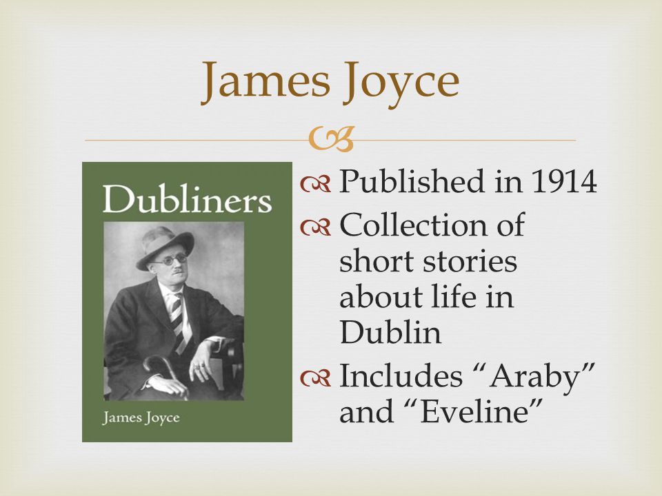 James Joyce Published in 1914