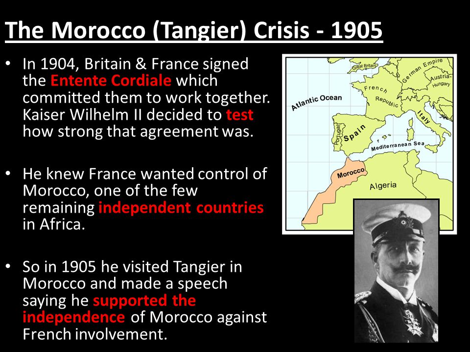 The Morocco (Tangier) Crisis - 1905