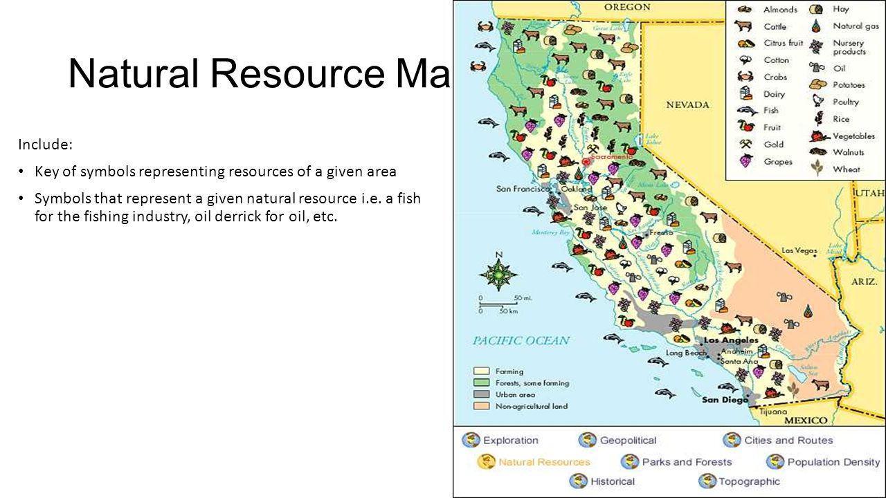 Natural Resource Maps Include: