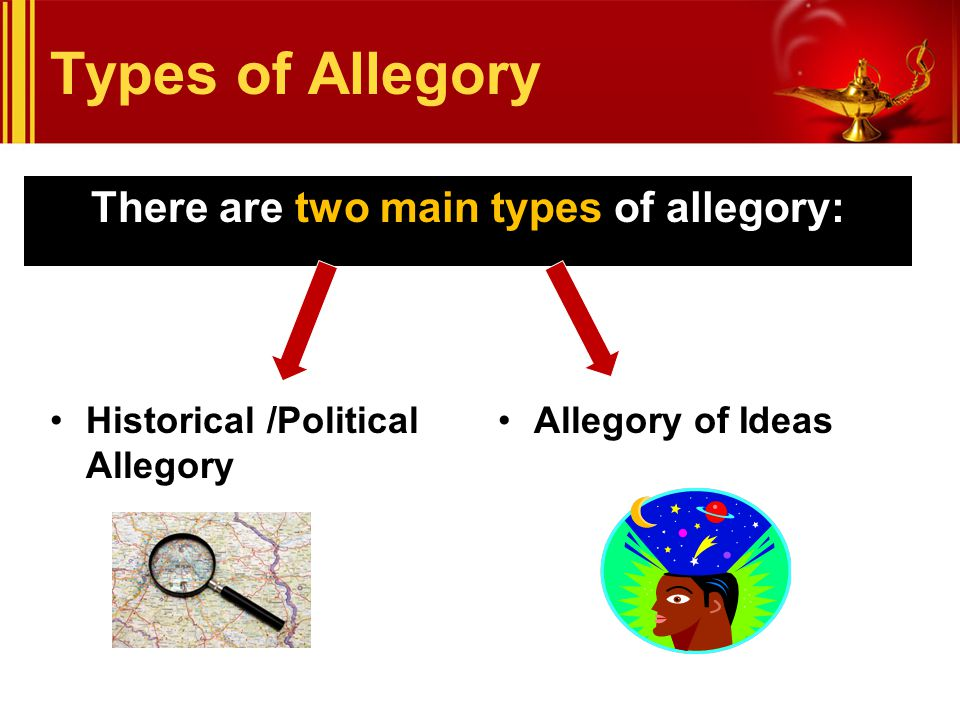 There are two main types of allegory: