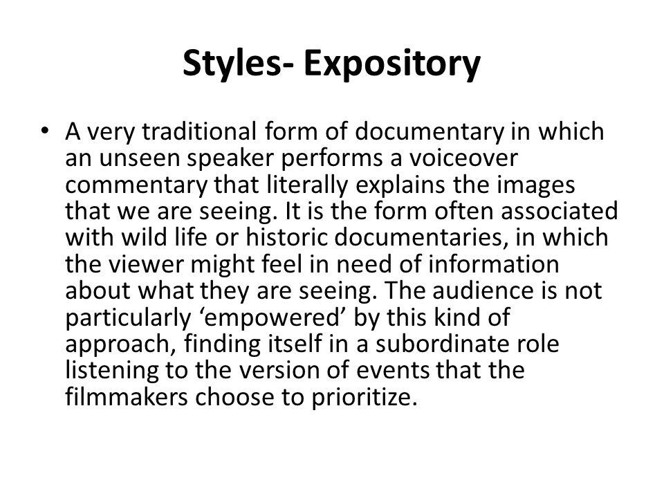 Styles- Expository