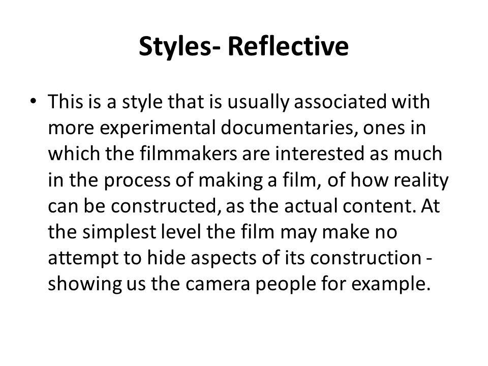 Styles- Reflective