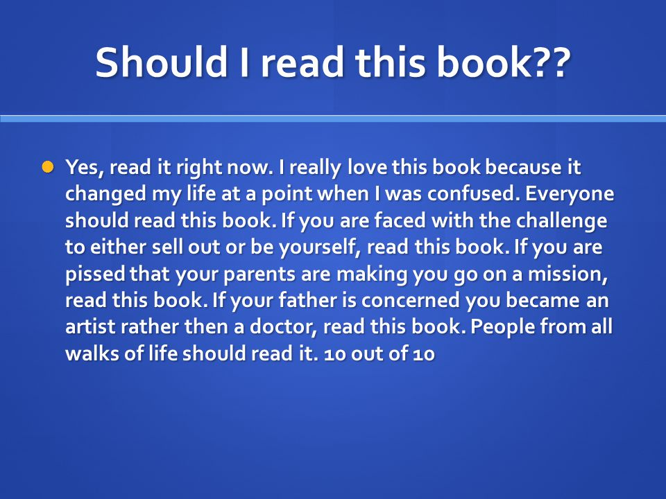 Should I read this book