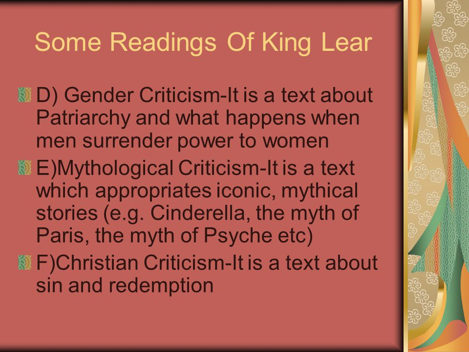 Some Readings Of King Lear