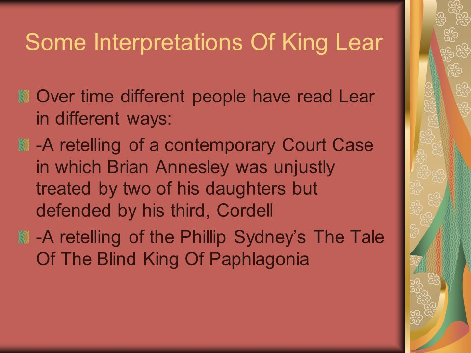Some Interpretations Of King Lear