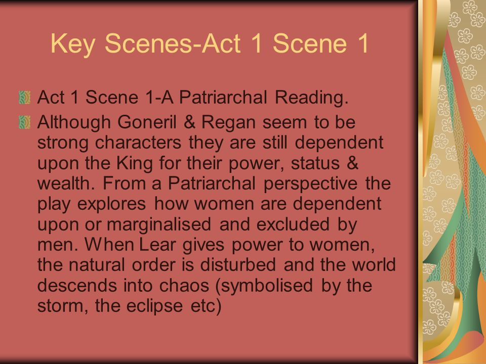 Key Scenes-Act 1 Scene 1 Act 1 Scene 1-A Patriarchal Reading.