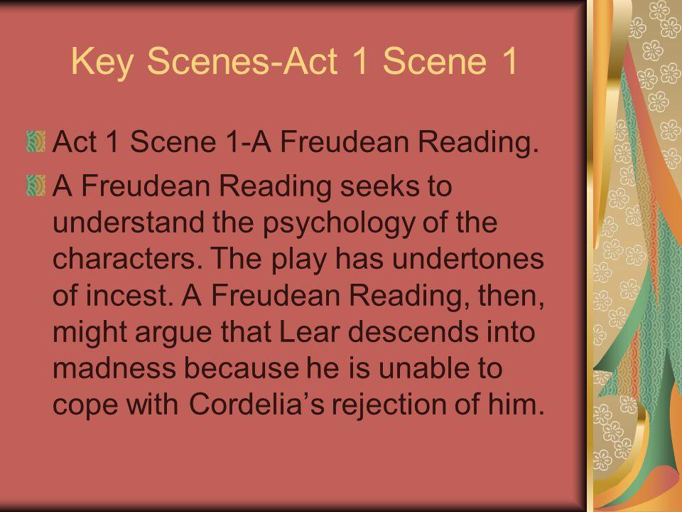 Key Scenes-Act 1 Scene 1 Act 1 Scene 1-A Freudean Reading.