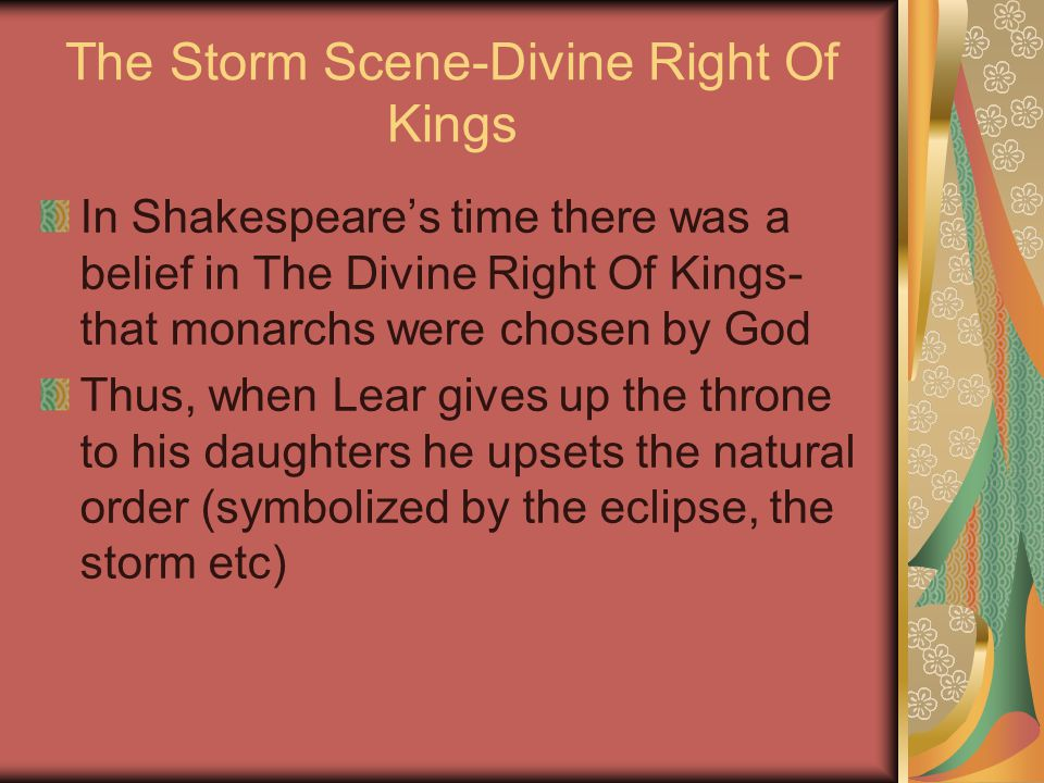 The Storm Scene-Divine Right Of Kings