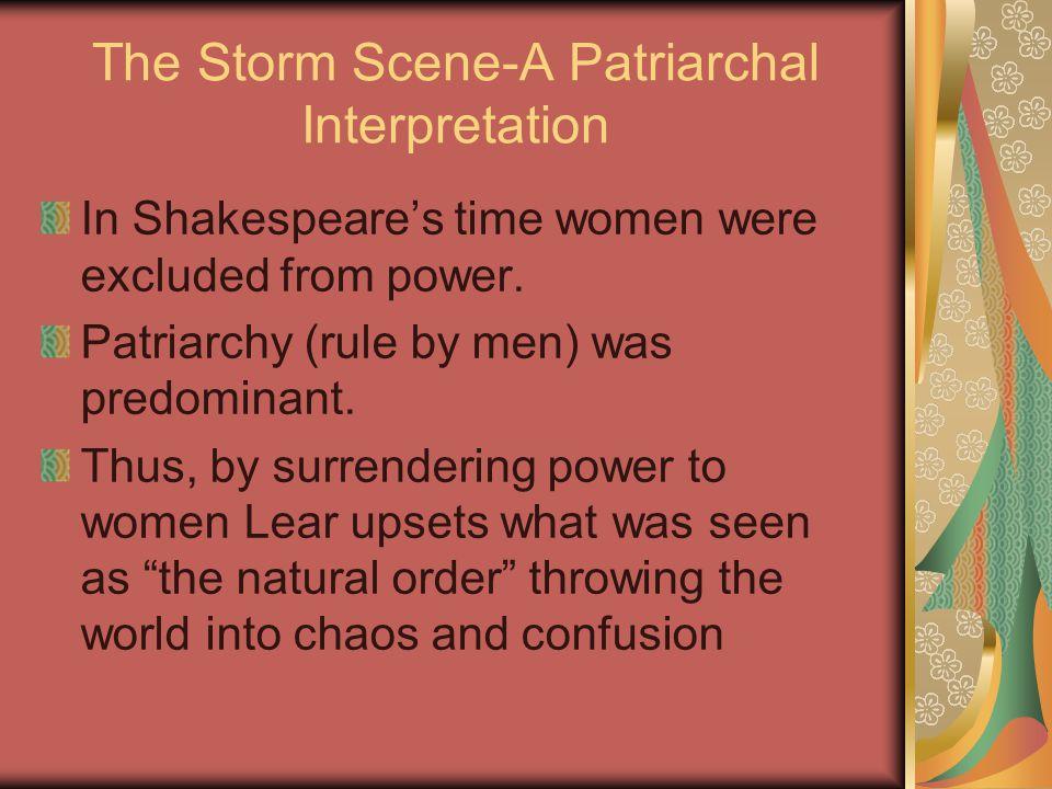 The Storm Scene-A Patriarchal Interpretation