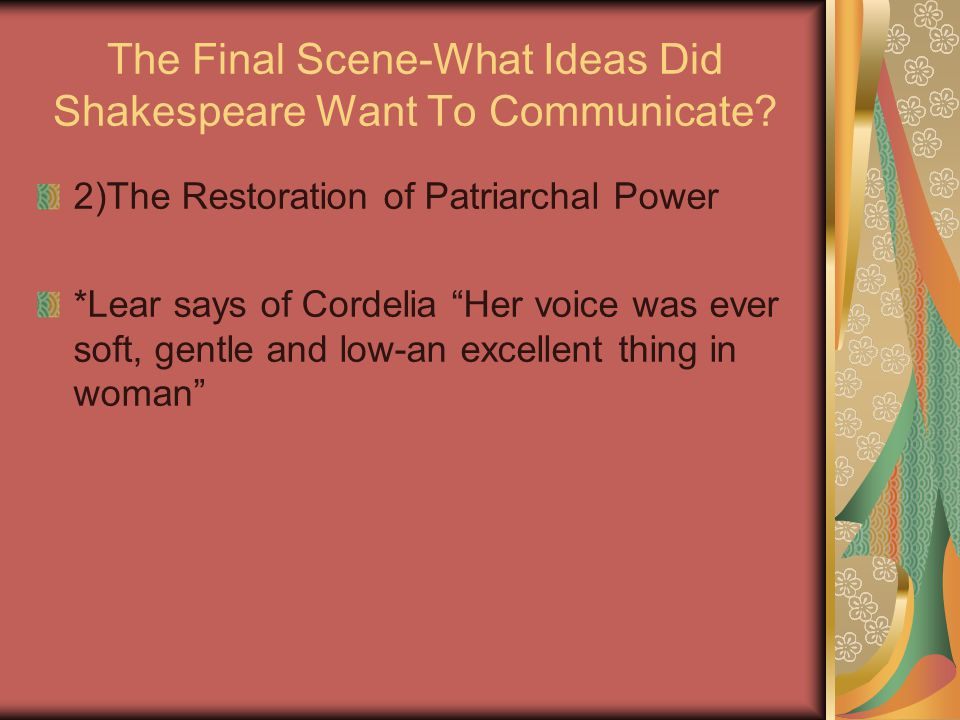 The Final Scene-What Ideas Did Shakespeare Want To Communicate