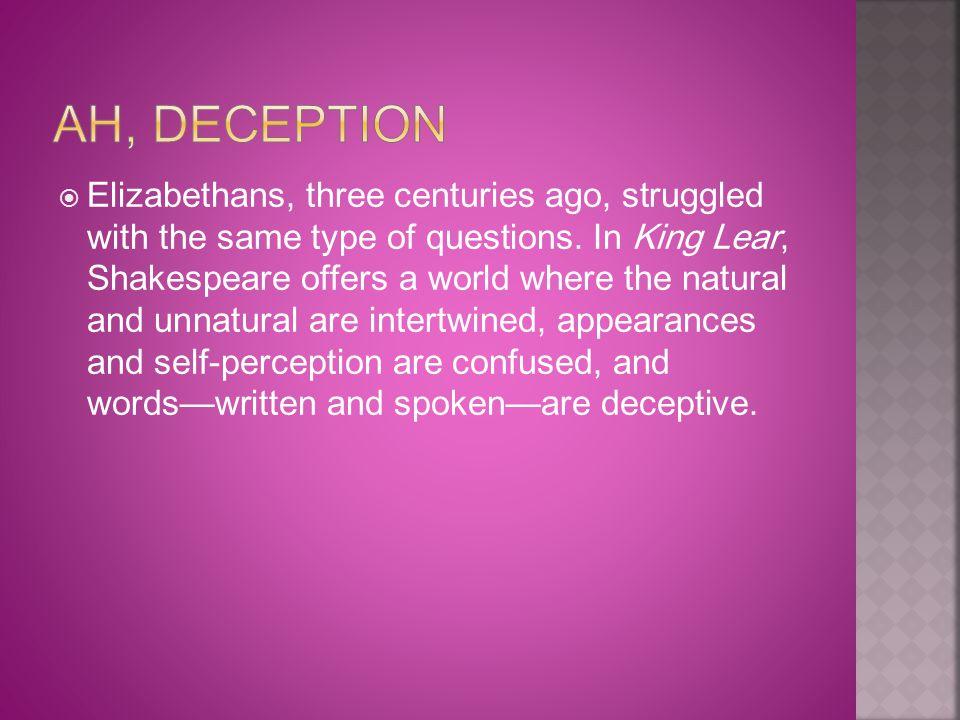 Ah, Deception